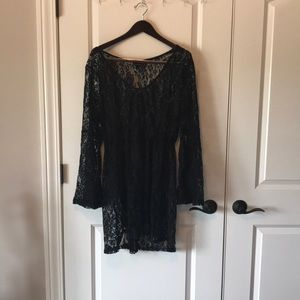 Torrid Black Lace Swim Cover Up